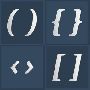 parentheses square brackets angle brackets and curly brackets